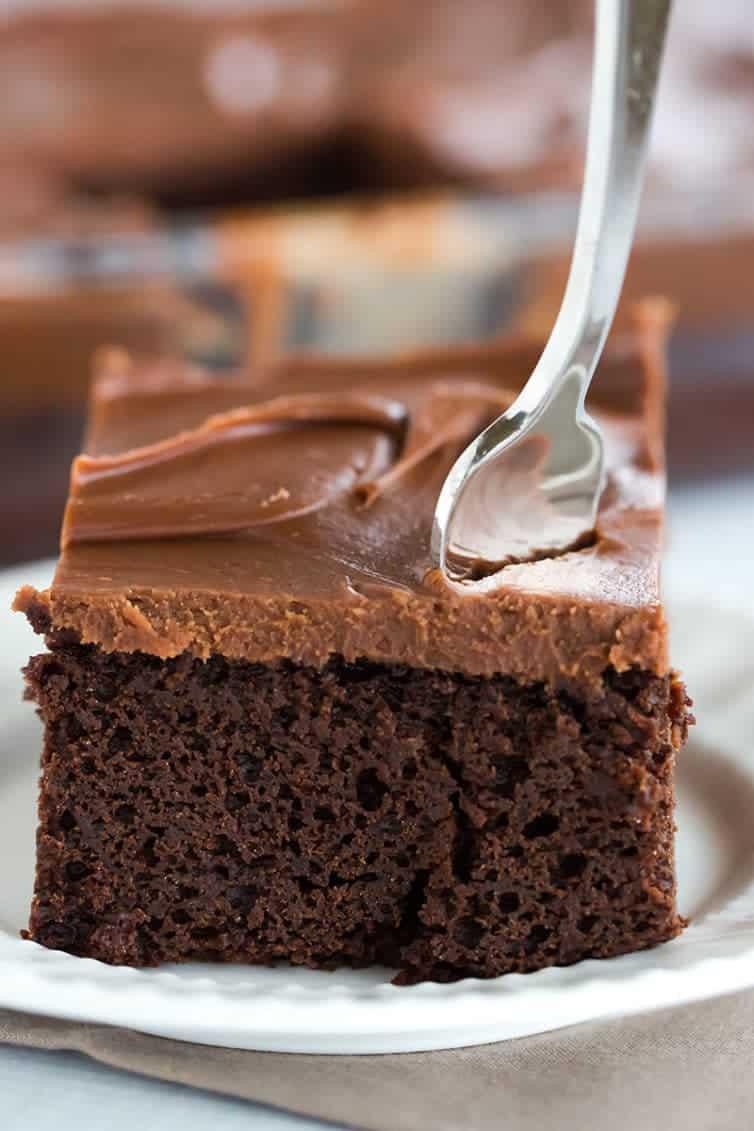 Chocolate Ganache Cake  Chocolate Sheet Cake with Milk Chocolate Ganache Frosting