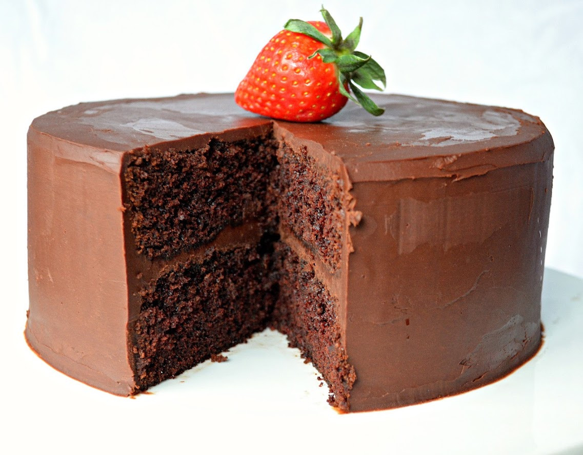Chocolate Ganache Cake  Moist Chocolate Cake With Ganache Frosting
