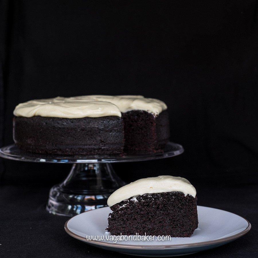 Chocolate Guinness Cake  Chocolate Guinness Cake with white chocolate cream cheese