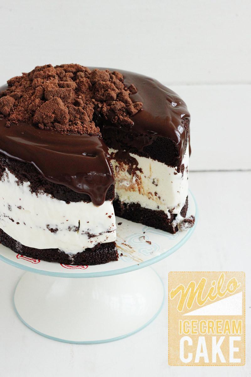 Chocolate Ice Cream Cake  Milo Ice Cream Cake