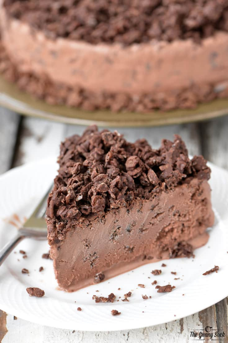 Chocolate Ice Cream Cake  Chocolate Ice Cream Cake with Crunchy Cereal