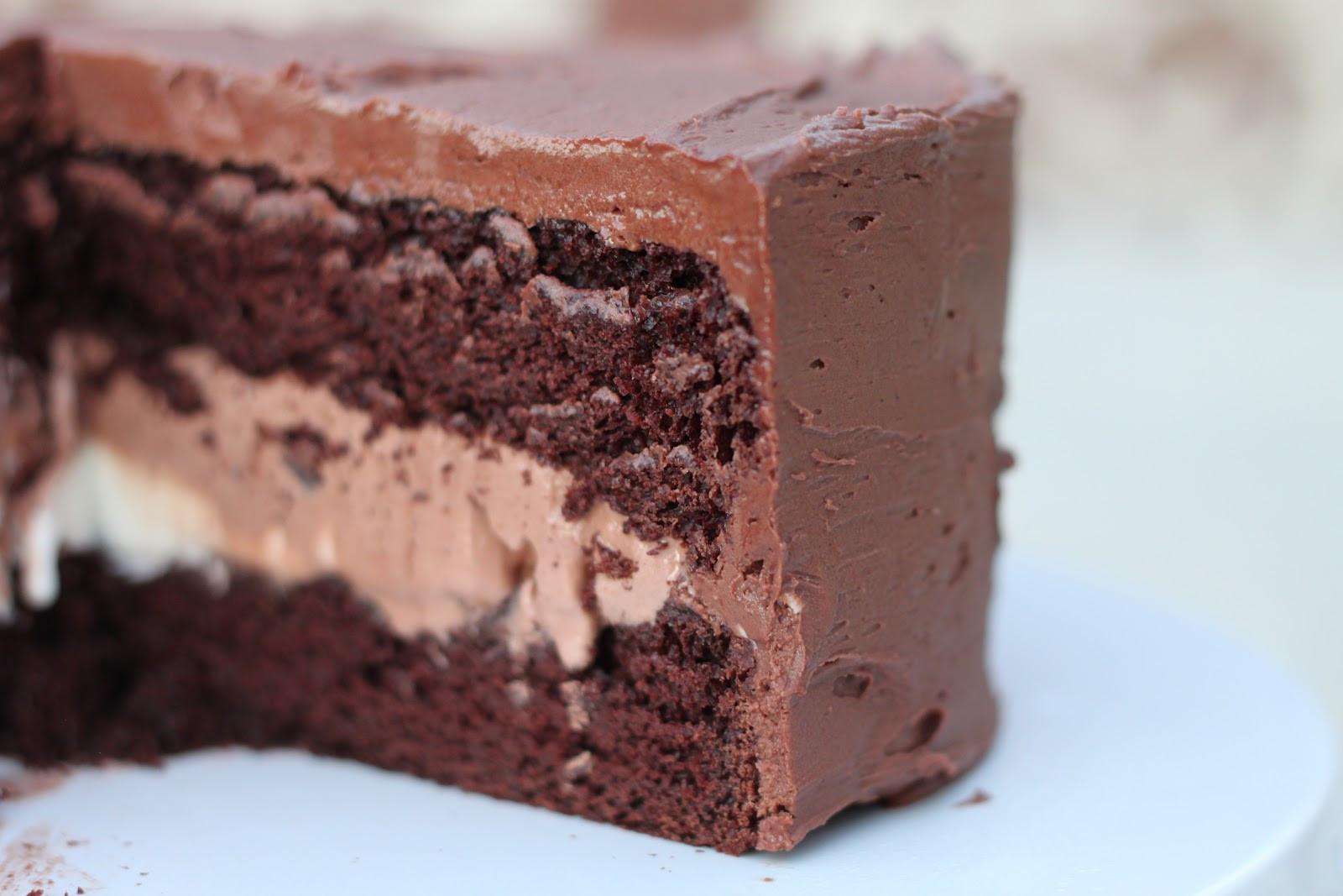 Chocolate Ice Cream Cake  A Bountiful Kitchen Triple Chocolate Ice Cream Cake
