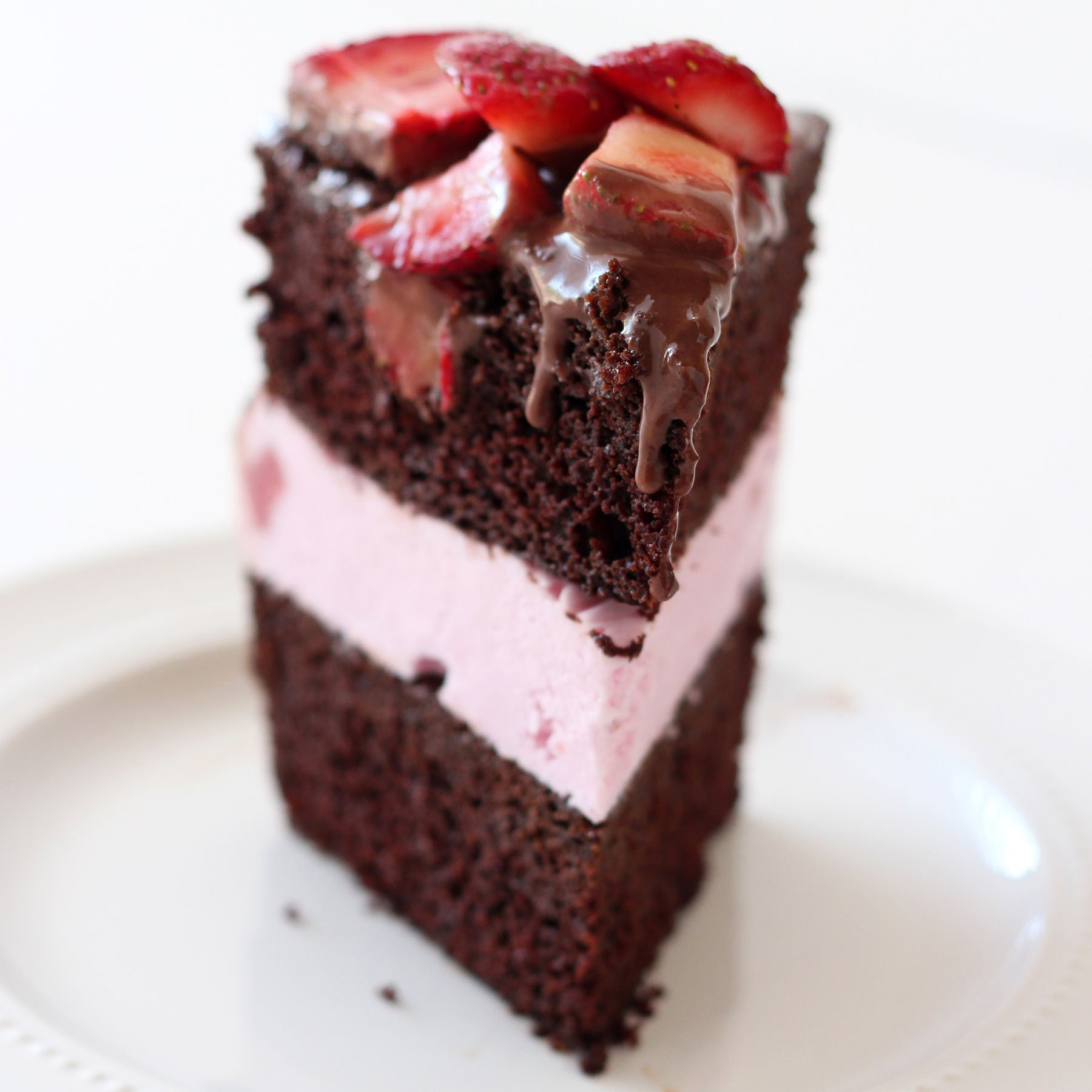 Chocolate Ice Cream Cake  Chocolate Covered Strawberry Ice Cream Cake