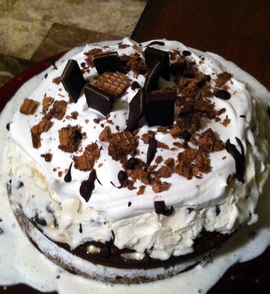 Chocolate Ice Cream Cake  Man That Stuff Is Good Mint Chocolate Ice Cream Cake