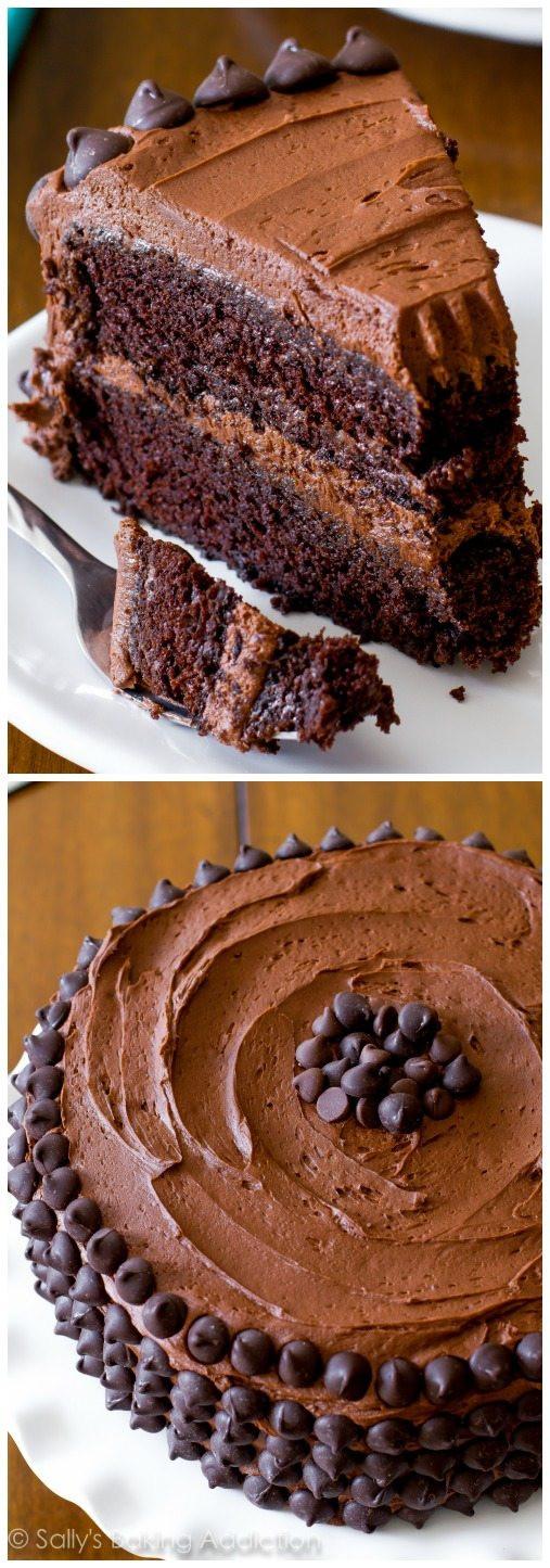 Chocolate Layer Cake  Triple Chocolate Layer Cake Sallys Baking Addiction