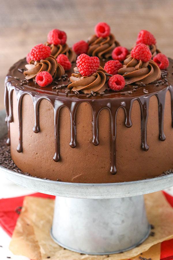 Chocolate Layer Cake  Raspberry Chocolate Layer Cake