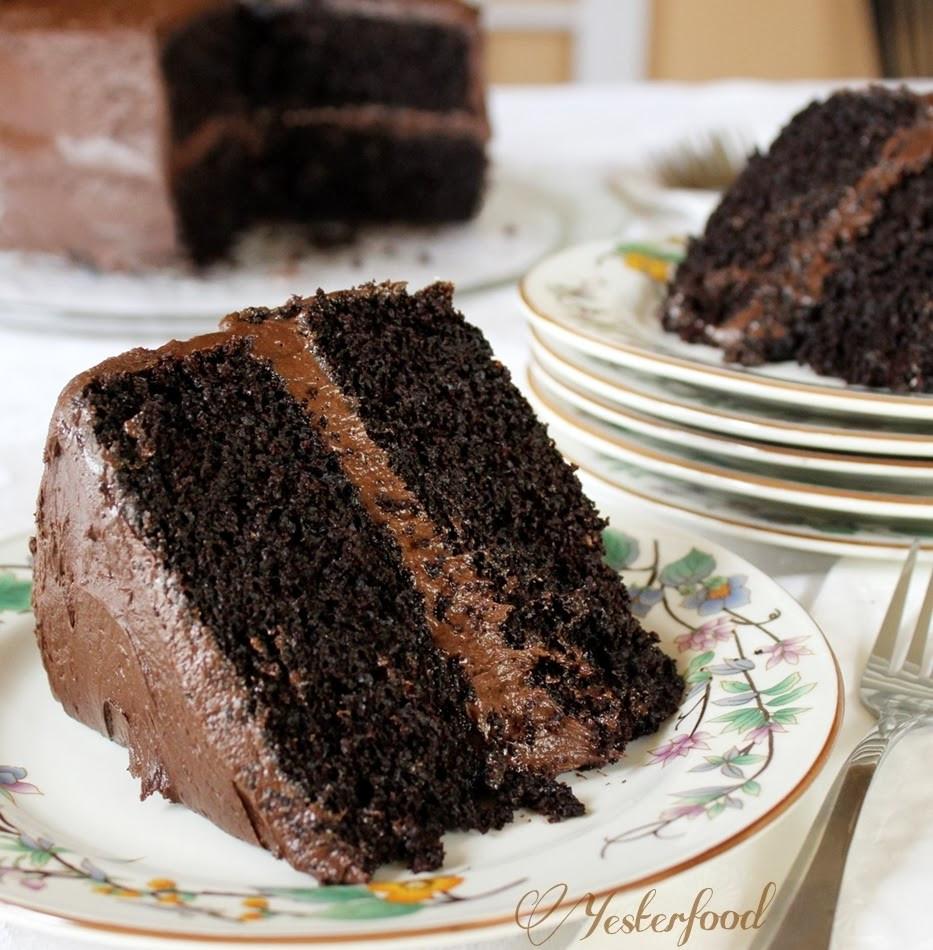 Chocolate Layer Cake  Yesterfood Rich Chocolate Layer Cake
