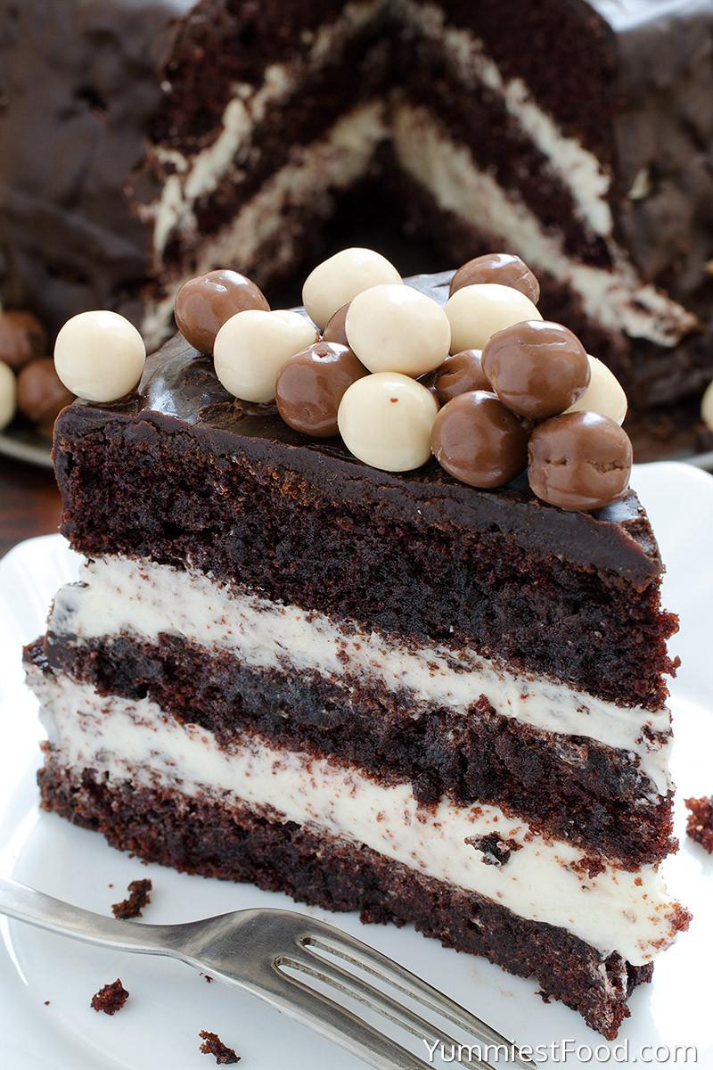 Chocolate Layer Cake Recipe  Chocolate Layer Cake with Cream Cheese Filling Recipe