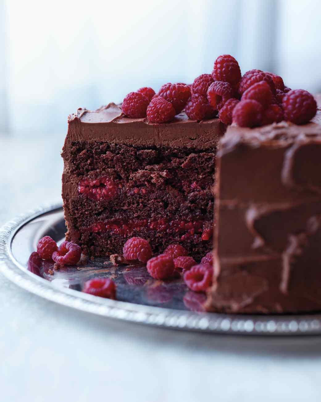 Chocolate Layer Cake Recipe  Raspberry Recipes The Idea Room