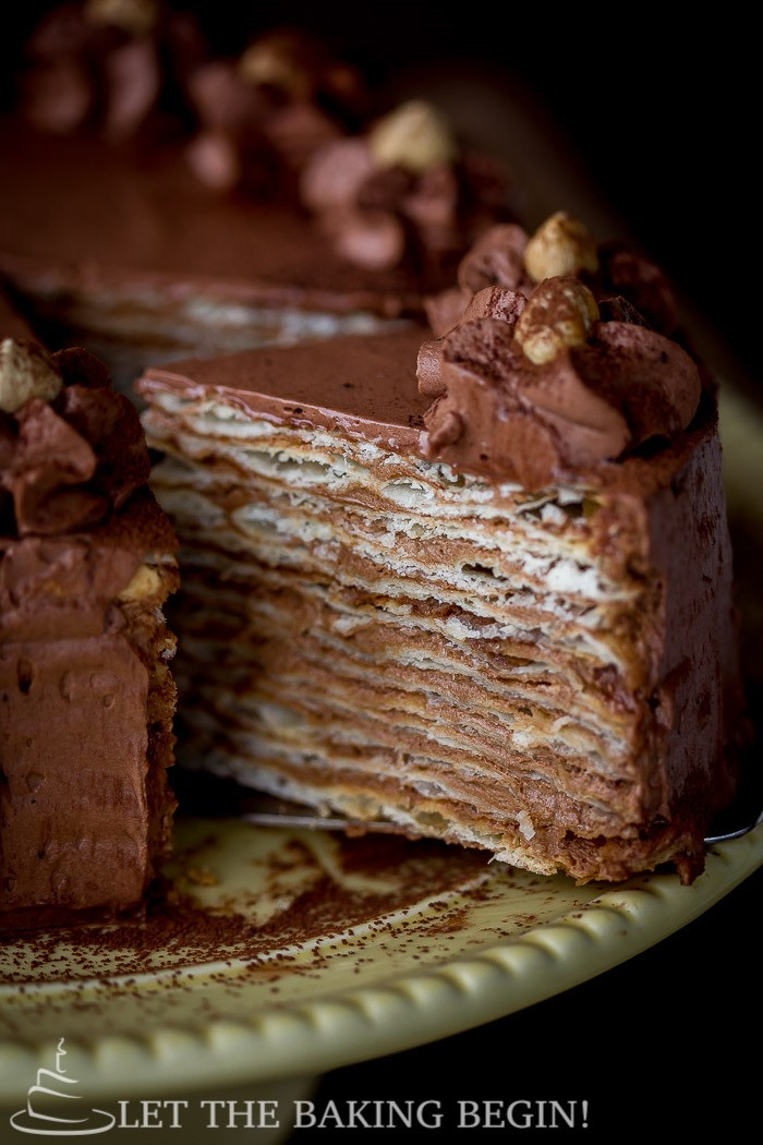 Chocolate Layer Cake Recipe  Mikado – Layer Cake with Chocolate Custard Buttercream