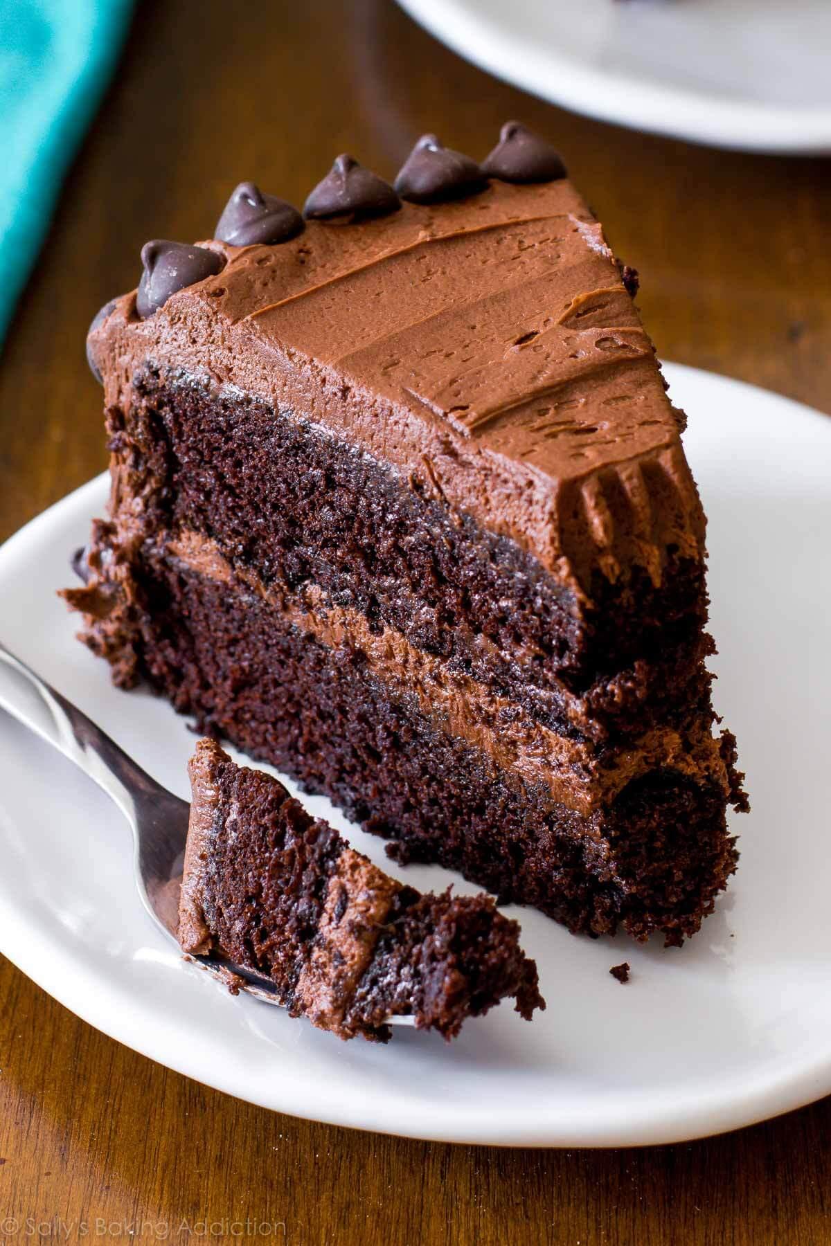 Chocolate Layer Cake Recipe  Triple Chocolate Layer Cake Sallys Baking Addiction
