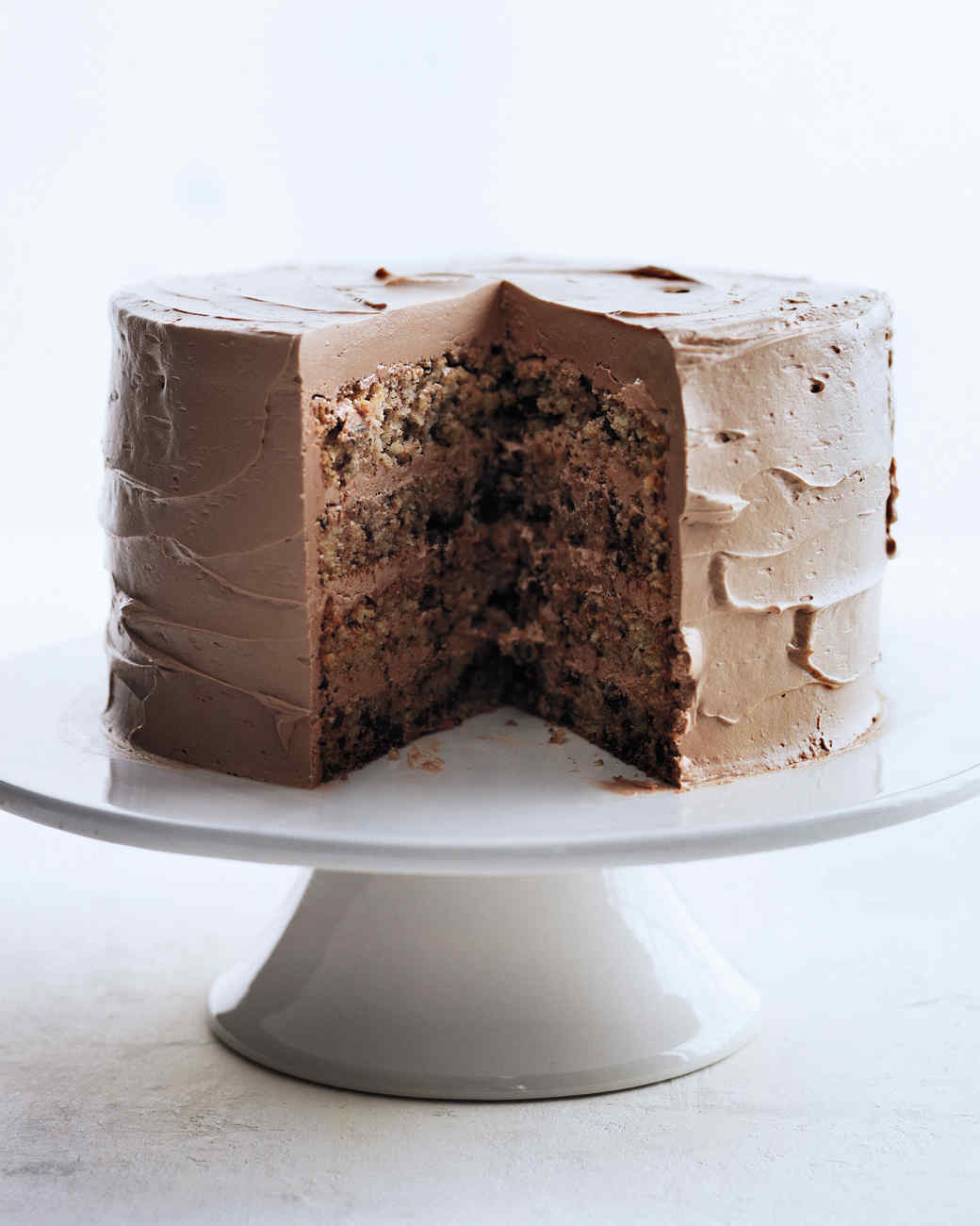 Chocolate Layer Cake Recipe  Chocolate Flecked Layer Cake with Milk Chocolate Frosting