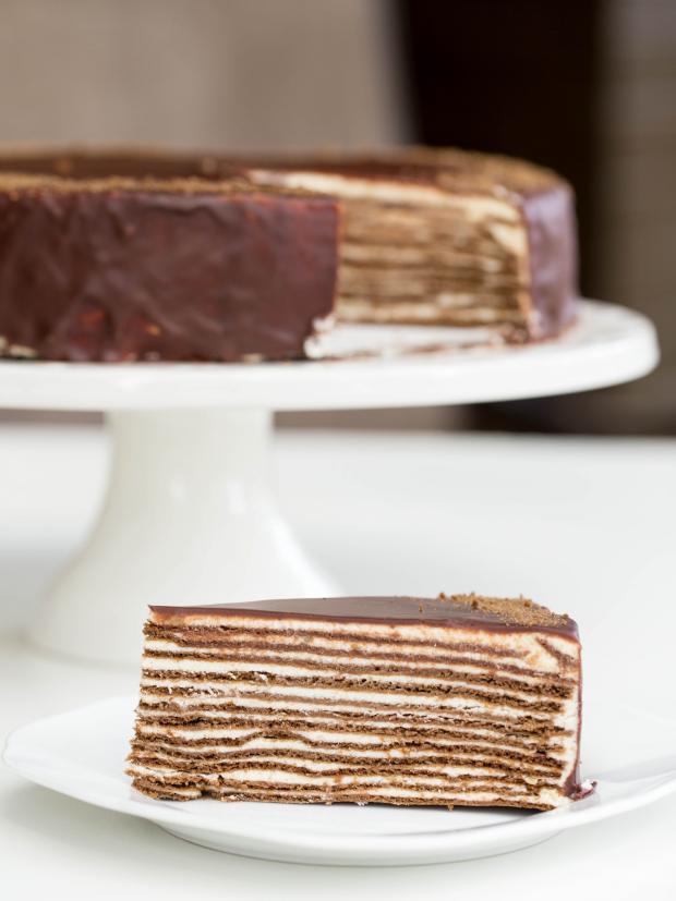Chocolate Layer Cake Recipe  Chocolate Layer Cake aka Spartak Cake
