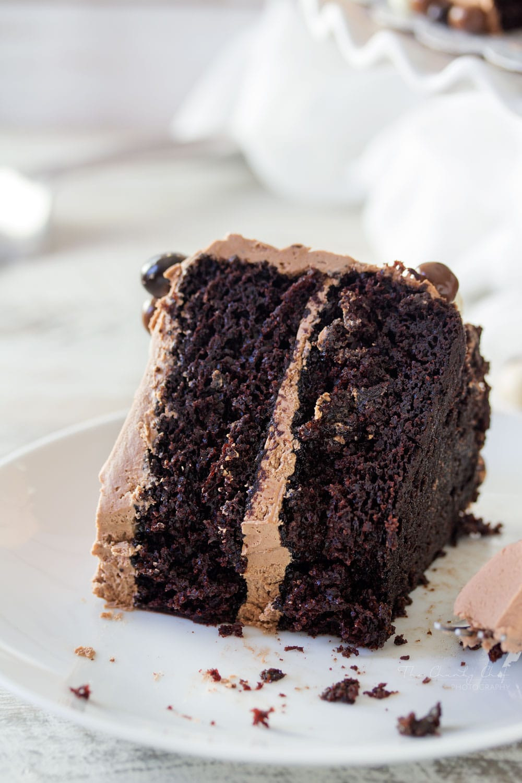 Chocolate Layer Cake  Buttermilk Chocolate Layer Cake The Chunky Chef