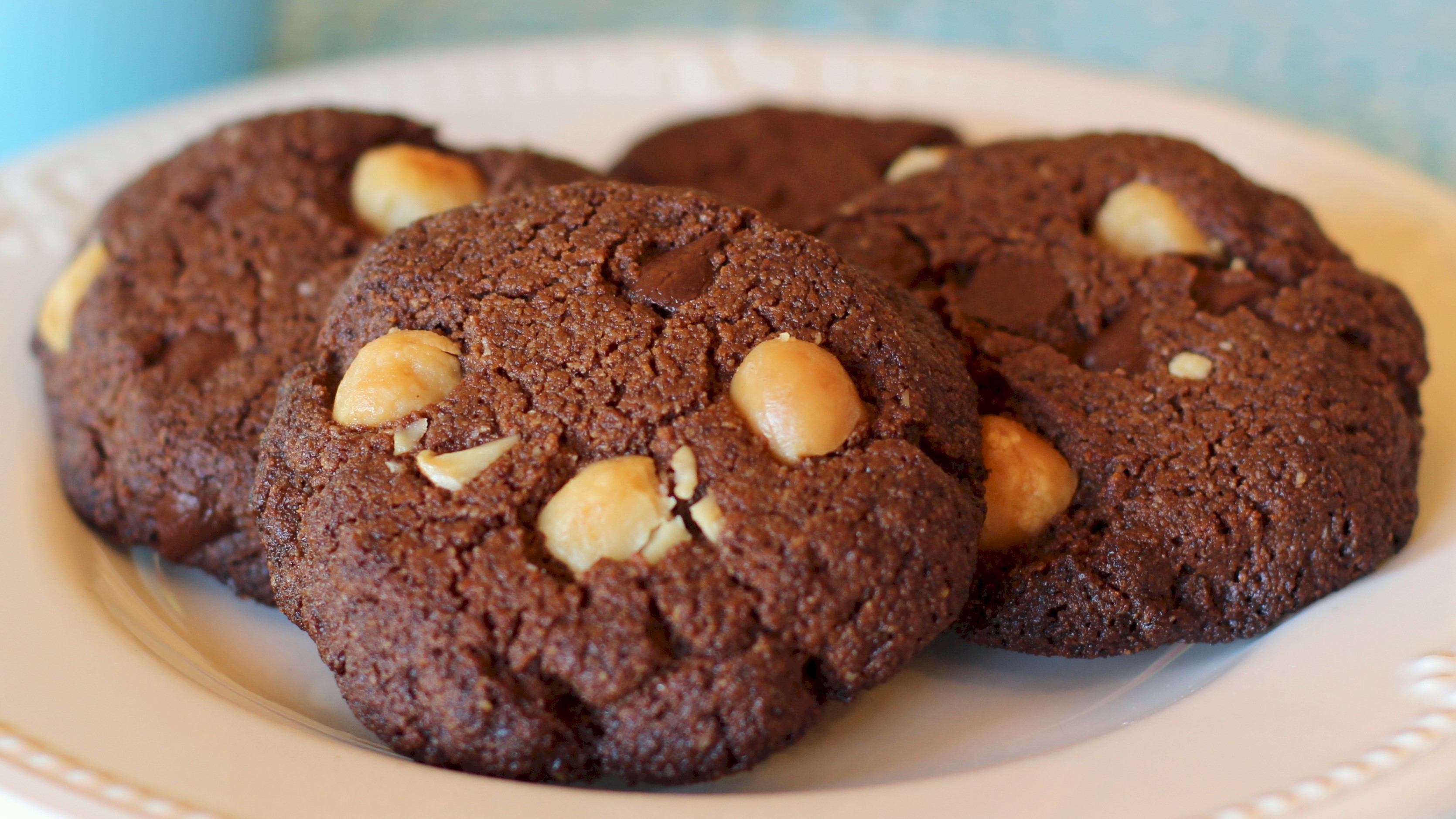 Chocolate Macadamia Nut Cookies  Gluten Free Double Chocolate Macadamia Nut Cookies Recipe