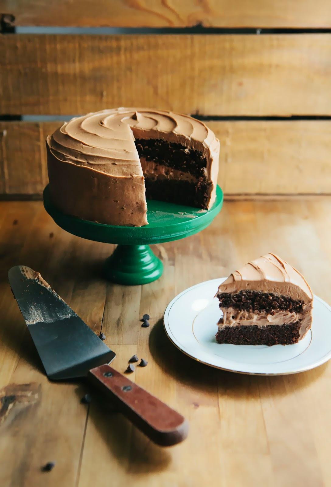 Chocolate Mocha Cake  e Bowl Chocolate Cake with Mocha Buttercream Frosting