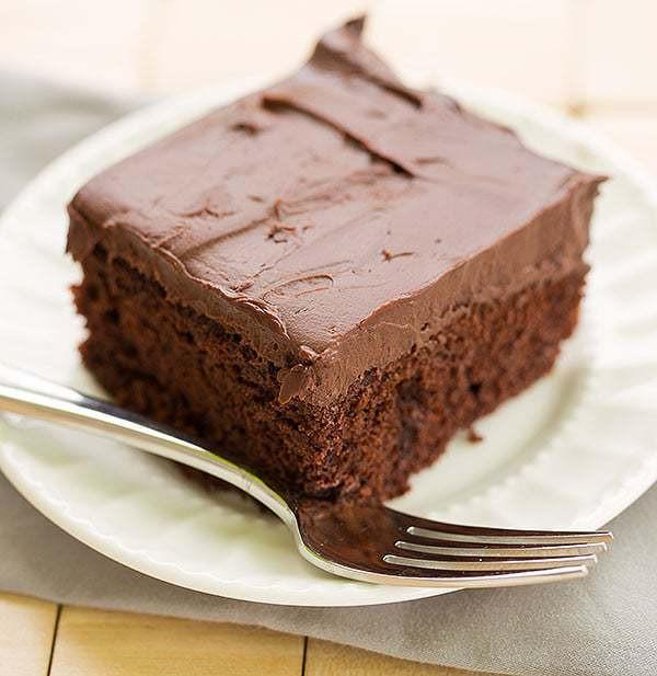Chocolate Mocha Cake  Chocolate Cake with Whipped Mocha Ganache Frosting