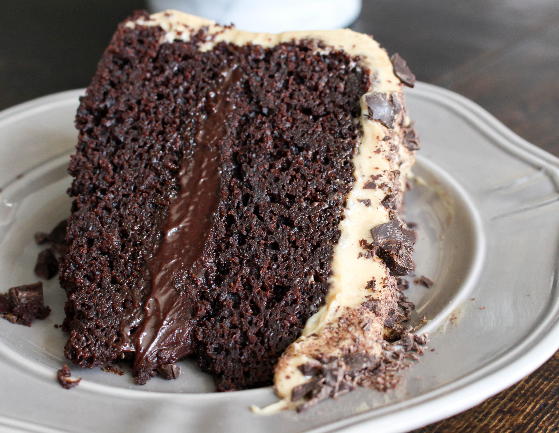 Chocolate Mocha Cake  e Year Mocha Cake with Fudge Filling & Espresso Frosting