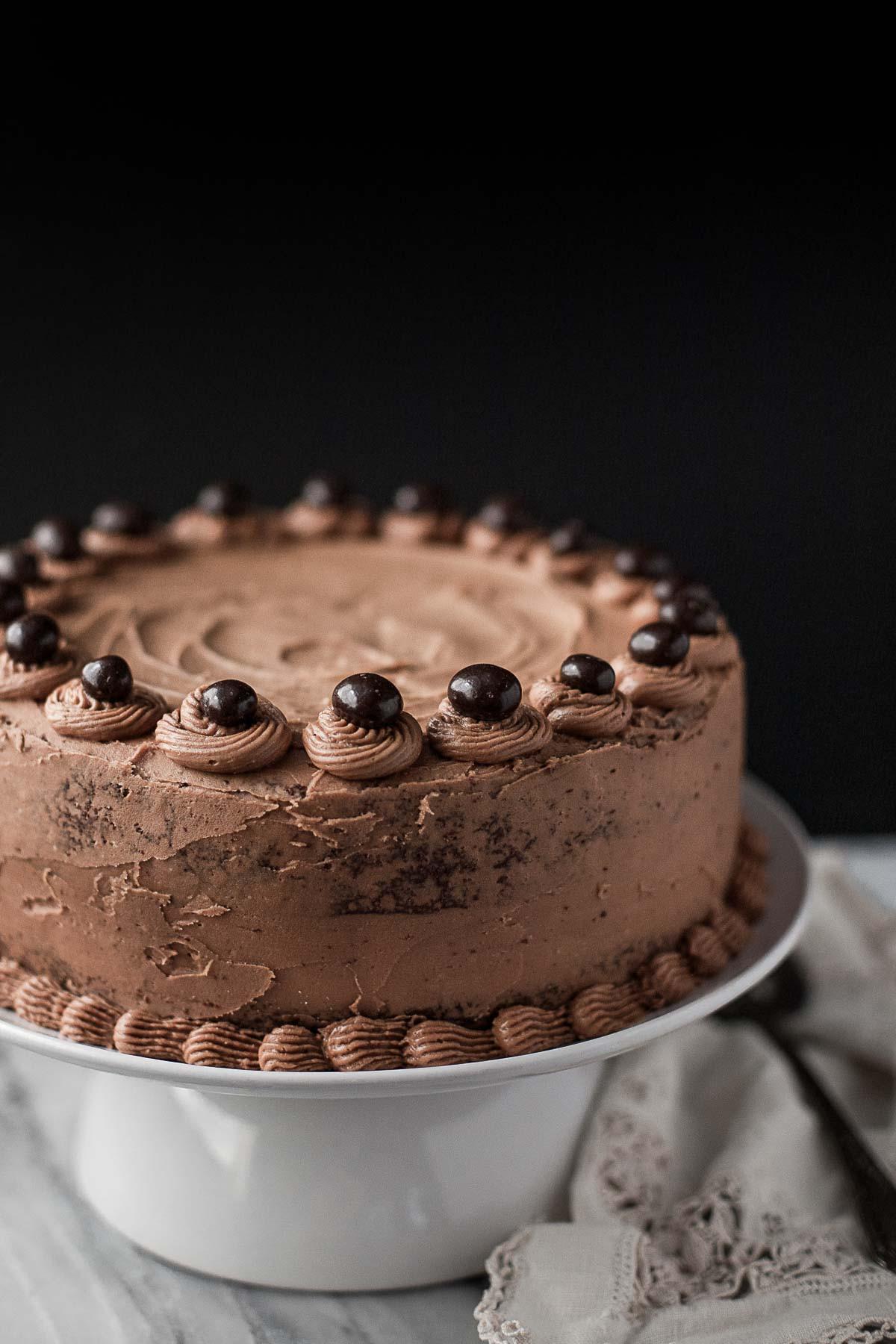 Chocolate Mocha Cake  Grain free Chocolate Cake with Mocha Buttercream A