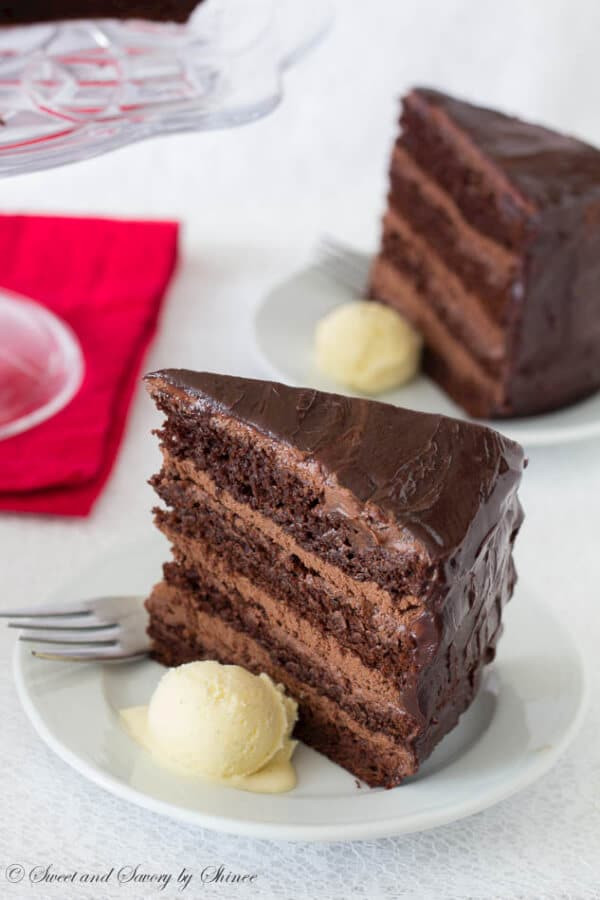 Chocolate Mousse Cake Filling  Supreme Chocolate Cake with Chocolate Mousse Filling