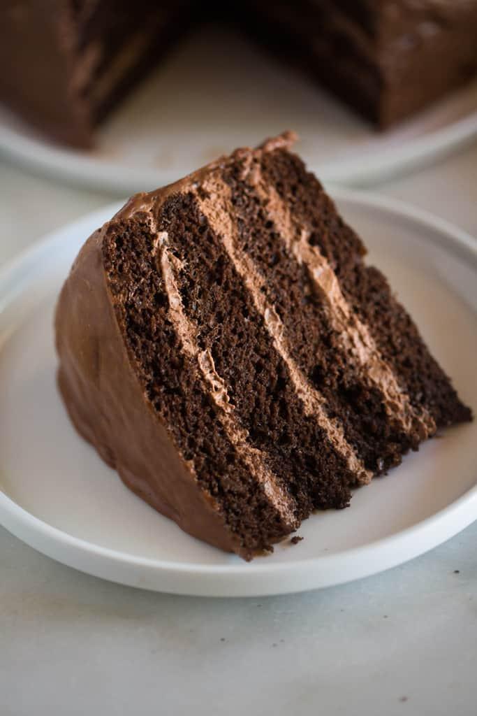 Chocolate Mousse Cake Filling  Chocolate Cake with Chocolate Mousse Filling Tastes