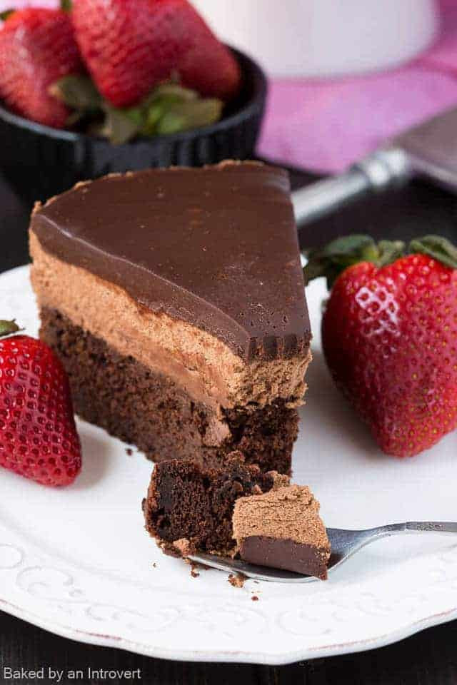 Chocolate Mousse Cake Filling  Triple Chocolate Mousse Cake