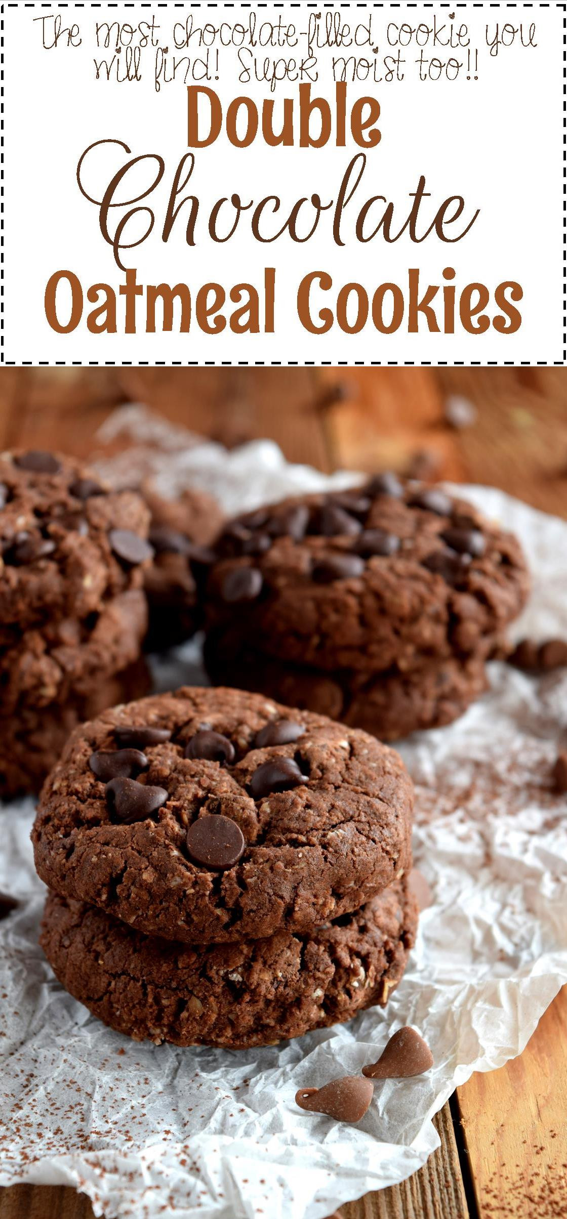 Chocolate Oatmeal Cookies  Double Chocolate Oatmeal Cookies Lord Byron s Kitchen