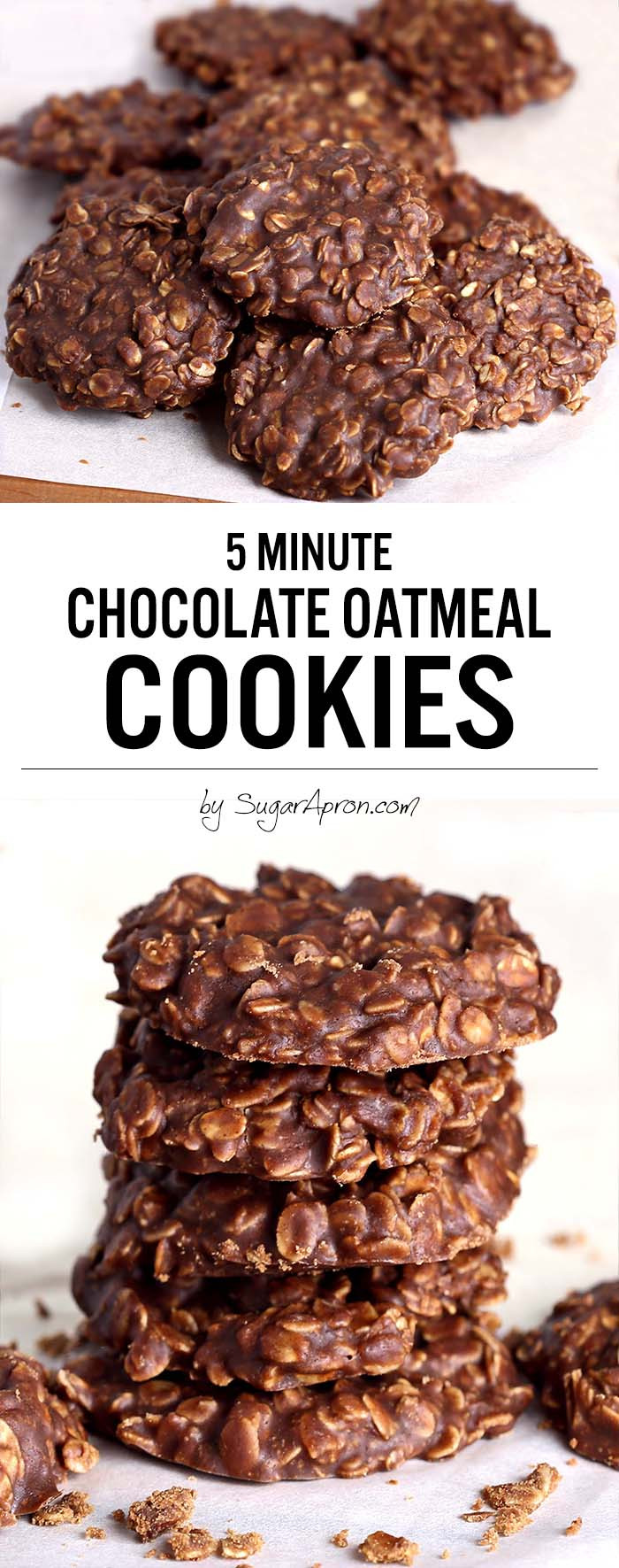Chocolate Oatmeal Cookies  No Bake Chocolate Oatmeal Cookies Sugar Apron