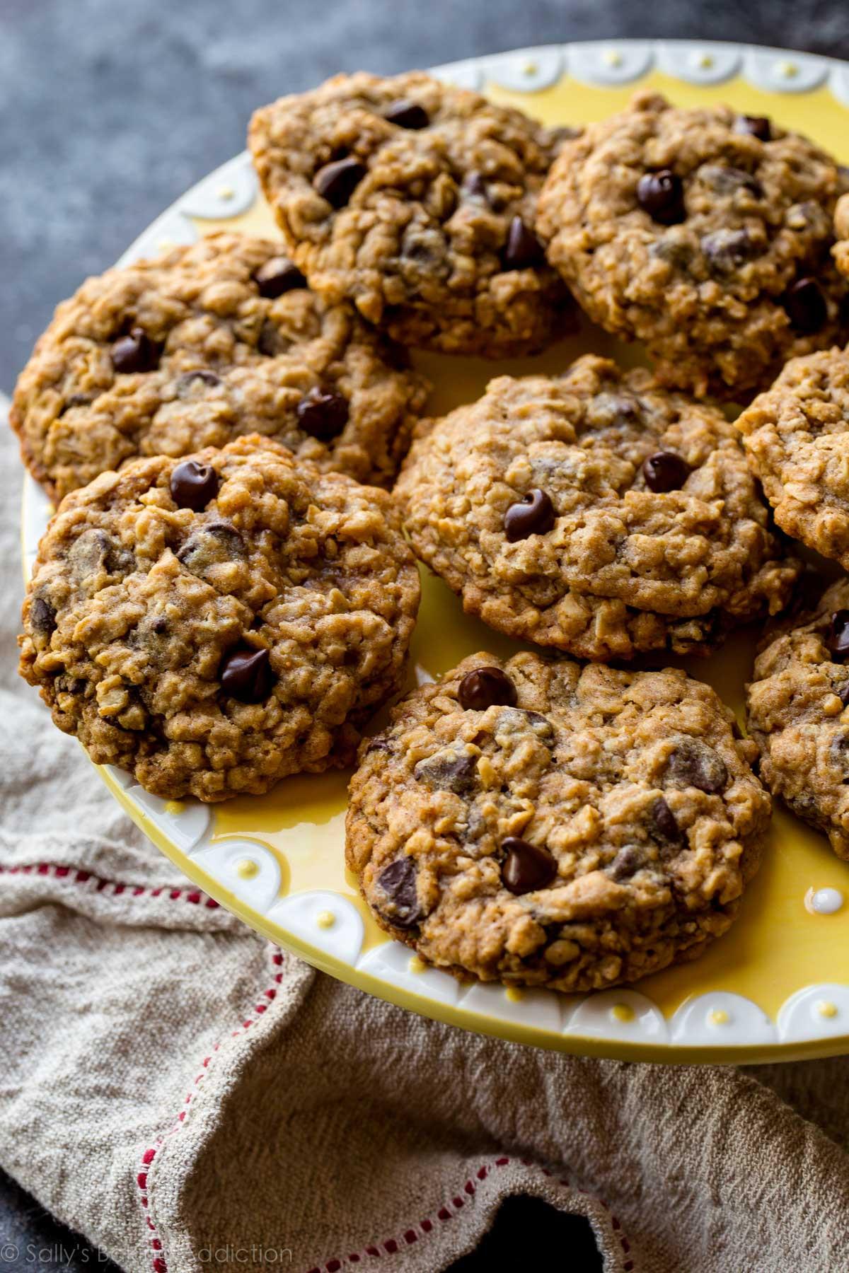 Chocolate Oatmeal Cookies  Soft & Chewy Oatmeal Chocolate Chip Cookies Sallys