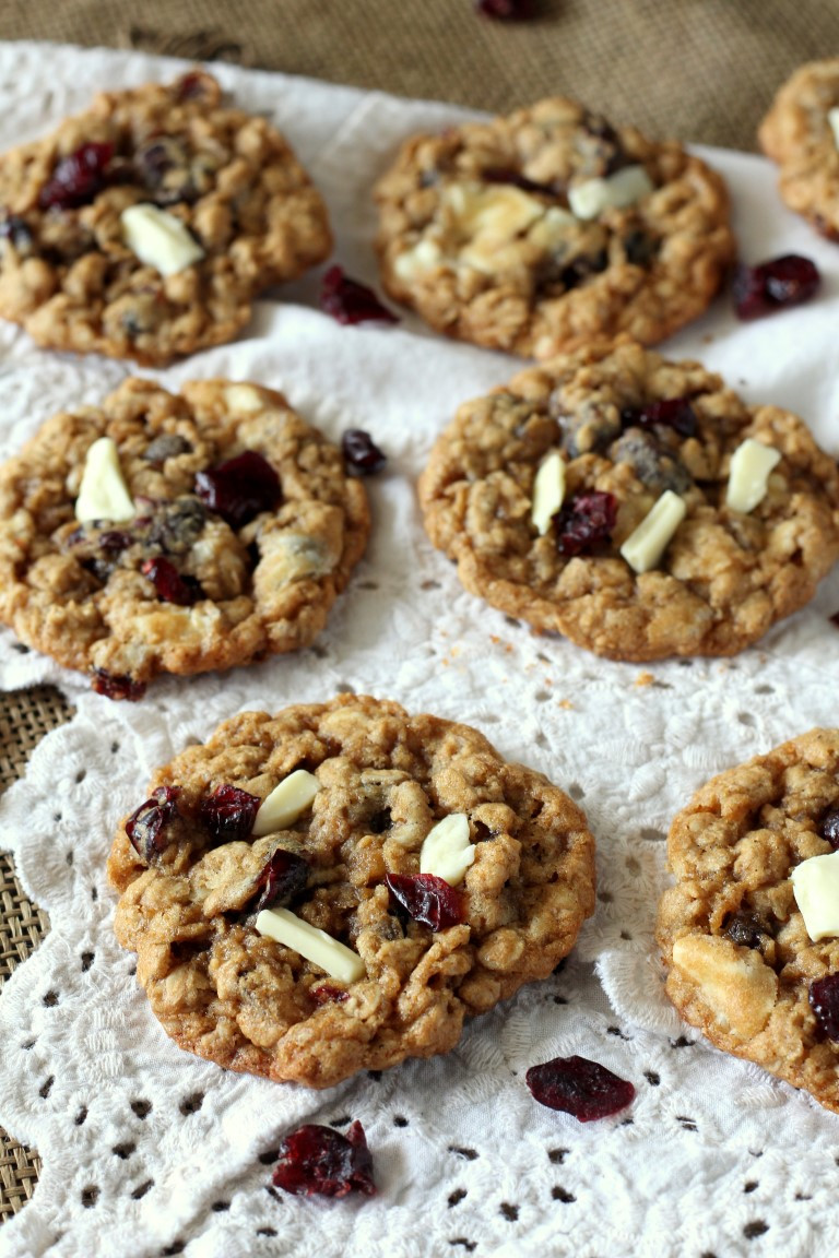 Chocolate Oatmeal Cookies  Cranberry White Chocolate Oatmeal Cookies Chocolate with
