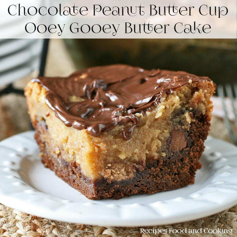 Chocolate Peanut Butter Cake Recipe  Brownie Pecan Pie Ooey Gooey Butter Cake Recipes Food
