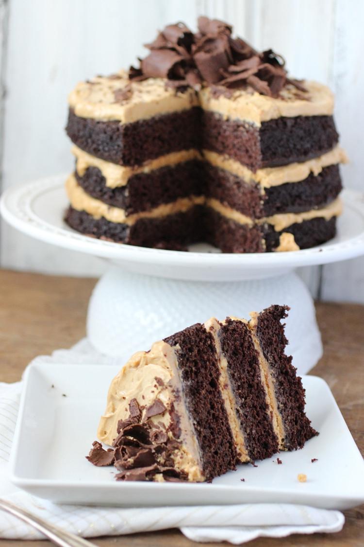 Chocolate Peanut Butter Cake Recipe  Chocolate Peanut Butter Cake Dora s Daily Dish