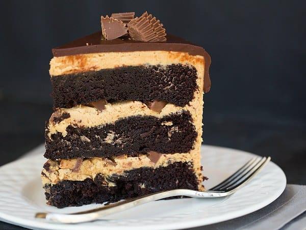 Chocolate Peanut Butter Cake Recipe  Chocolate Peanut Butter Cup Cake