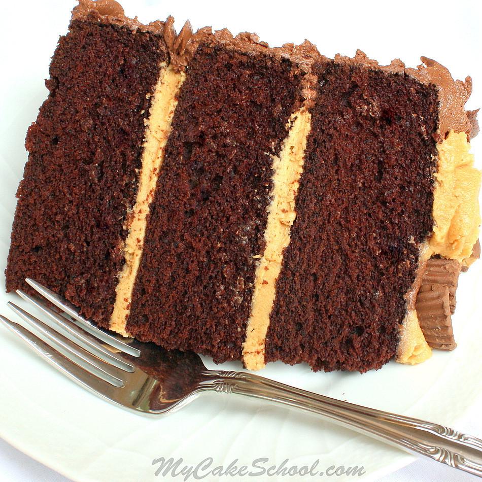 Chocolate Peanut Butter Cake Recipe  Peanut Butter and Chocolate Cake Recipe from Scratch