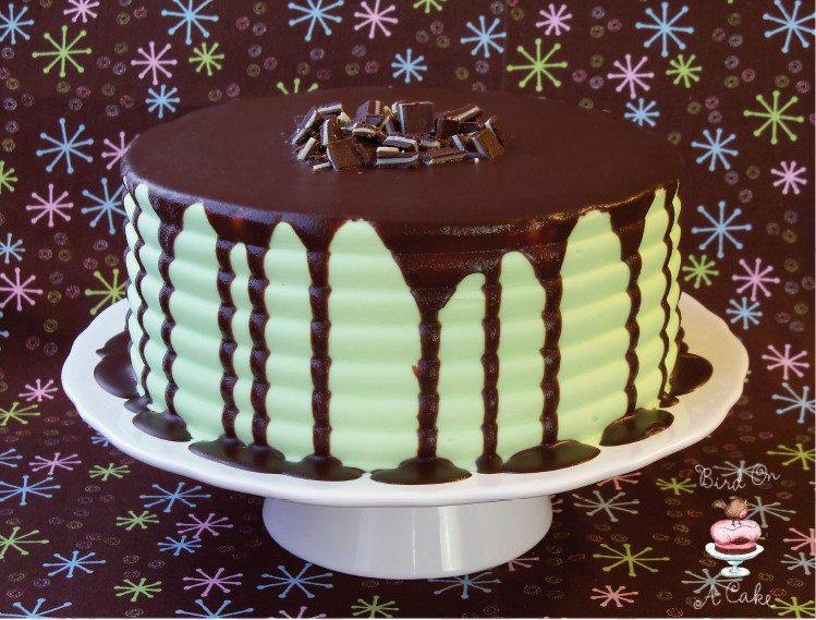 Chocolate Peppermint Cake  Bird A Cake Andes Mint Chocolate Cake with Ganache