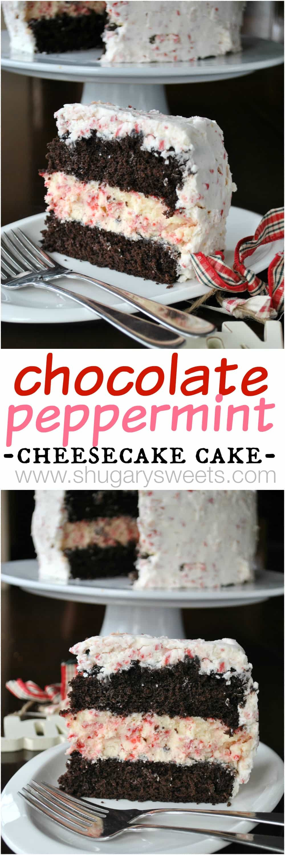 Chocolate Peppermint Cake  Chocolate Peppermint Cheesecake Cake Shugary Sweets