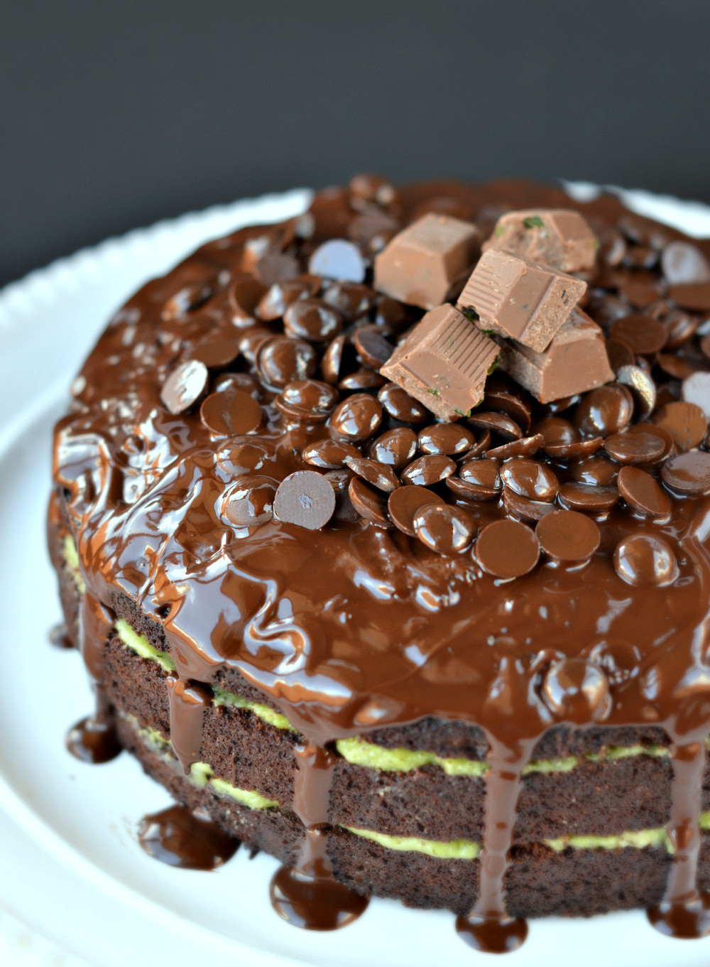 Chocolate Peppermint Cake  Chocolate Cake with Peppermint Coconut Cream SWEETASHONEY