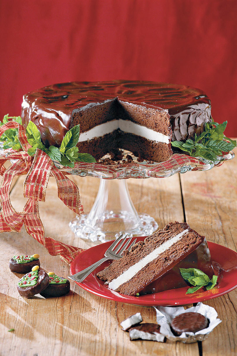 Chocolate Peppermint Cake  Peppermint Dessert Recipes Southern Living