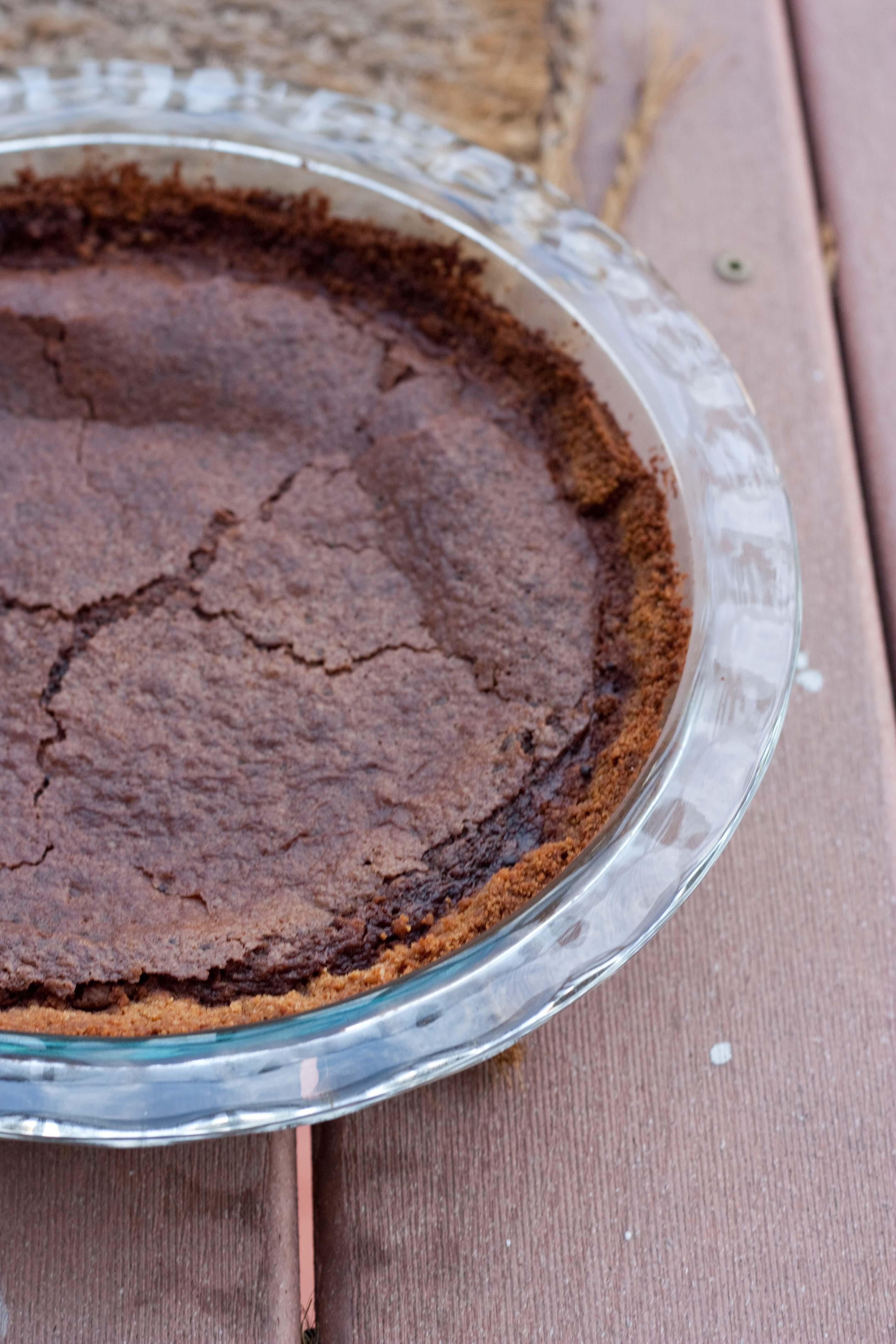 Chocolate Pie Crust  Milk Chocolate Brownie Pie with Peanut Butter Graham
