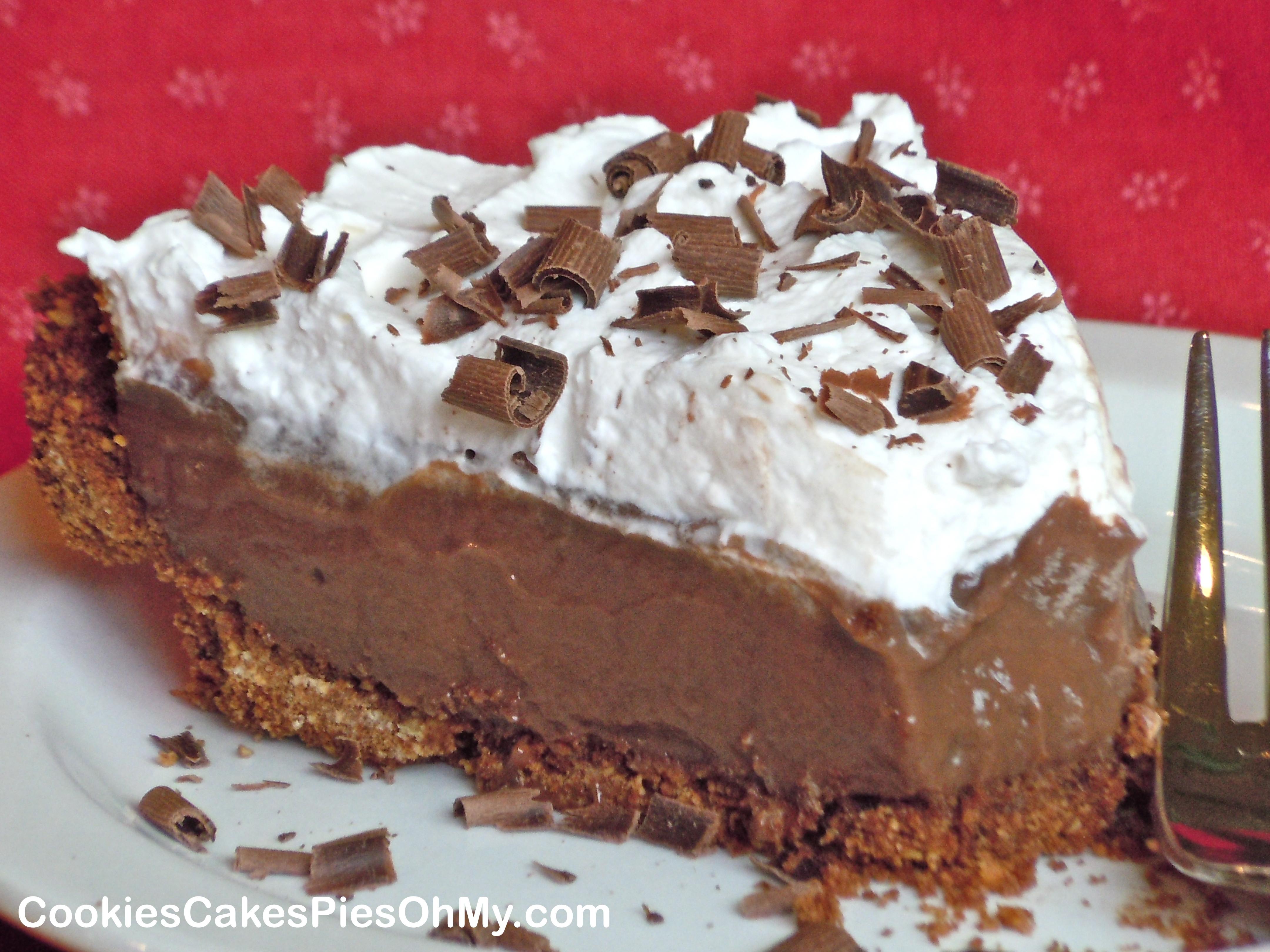 Chocolate Pie Crust  Dark Chocolate Cream Pie