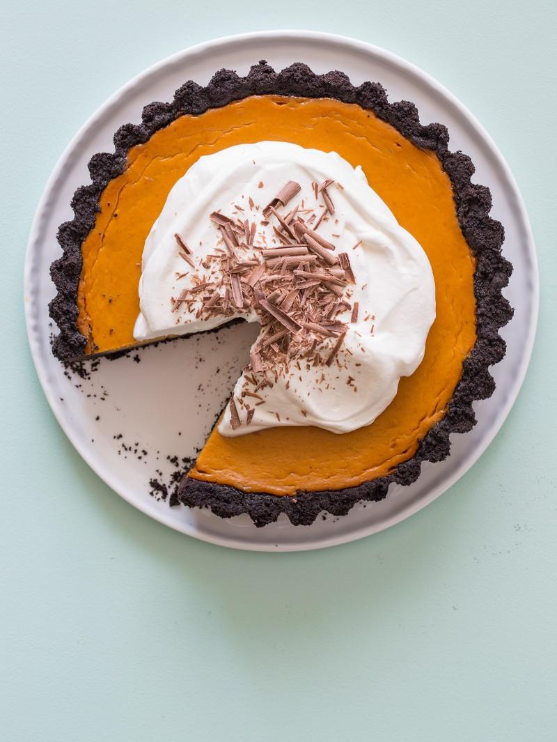 Chocolate Pie Crust  Pumpkin Pie with a Chocolate Crust