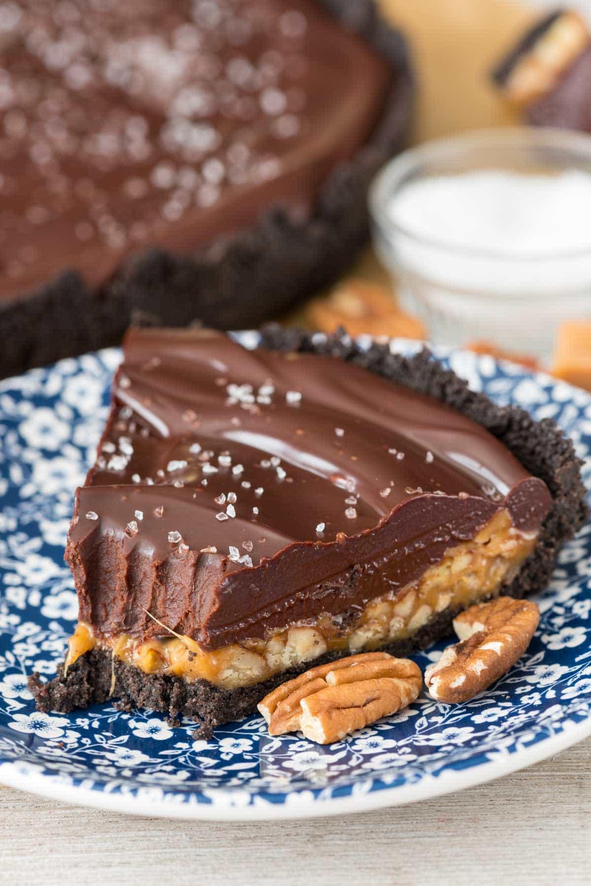 Chocolate Pie Crust  Salted Caramel Pecan Chocolate Pie Crazy for Crust