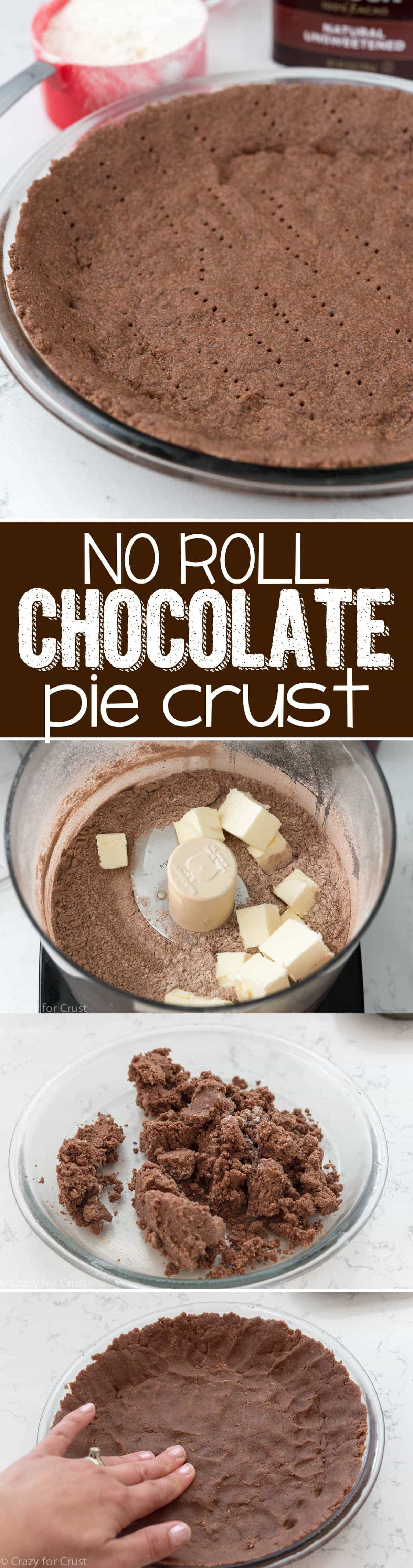 Chocolate Pie Crust  No Roll Chocolate Pie Crust Crazy for Crust