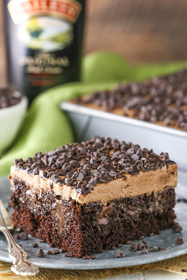 Chocolate Poke Cake  Baileys Chocolate Poke Cake