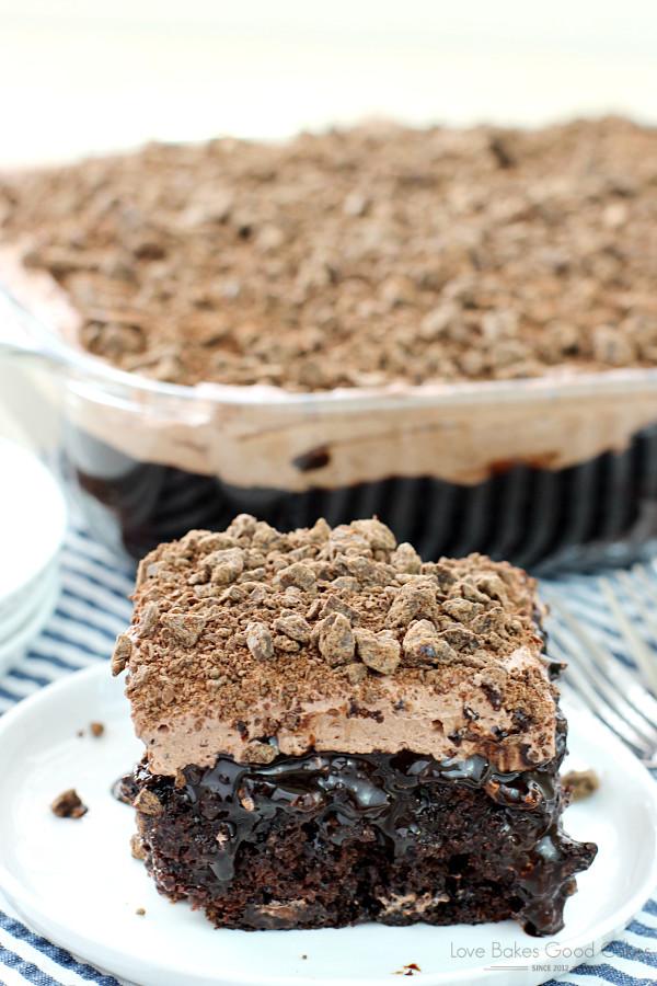 Chocolate Poke Cake Recipes  Death By Chocolate Poke Cake Love Bakes Good Cakes
