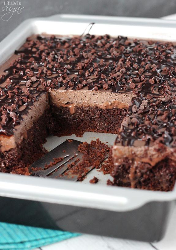 Chocolate Poke Cake Recipes  Chocolate Poke Cake Life Love and Sugar