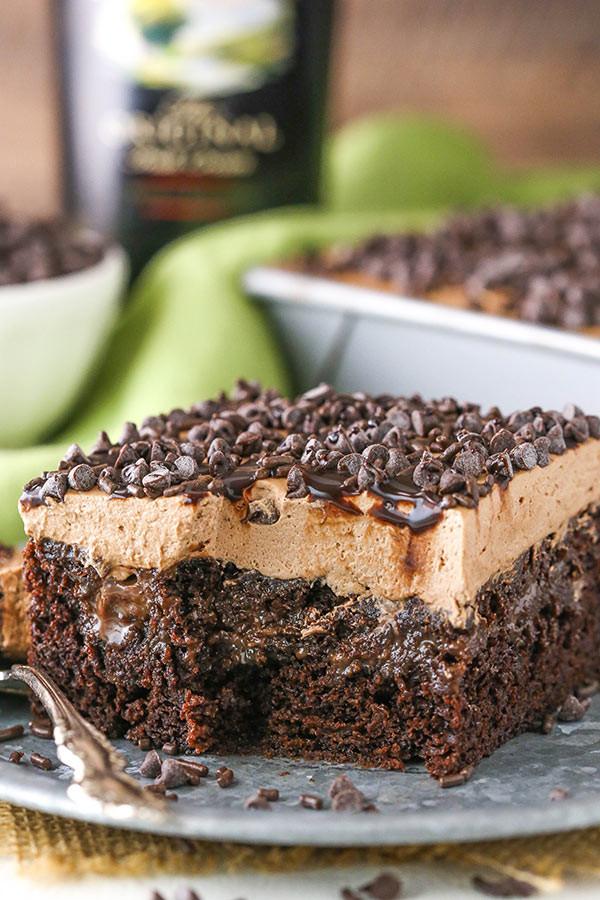 Chocolate Poke Cake Recipes  Baileys Chocolate Poke Cake