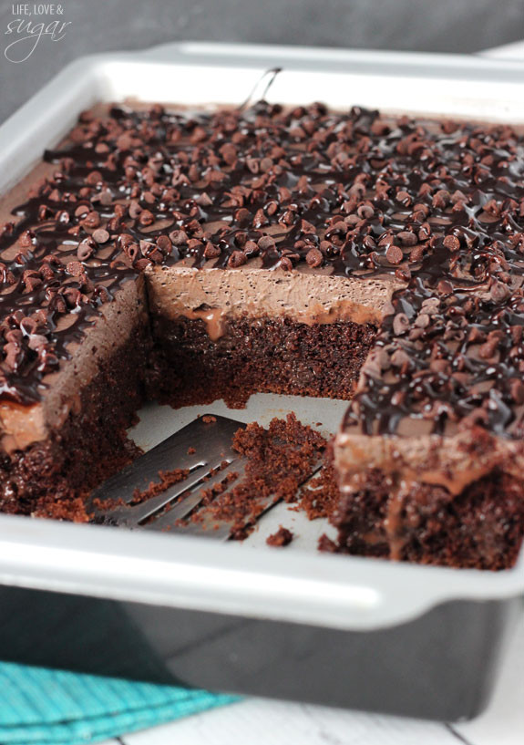 Chocolate Poke Cake  Chocolate Poke Cake Life Love and Sugar