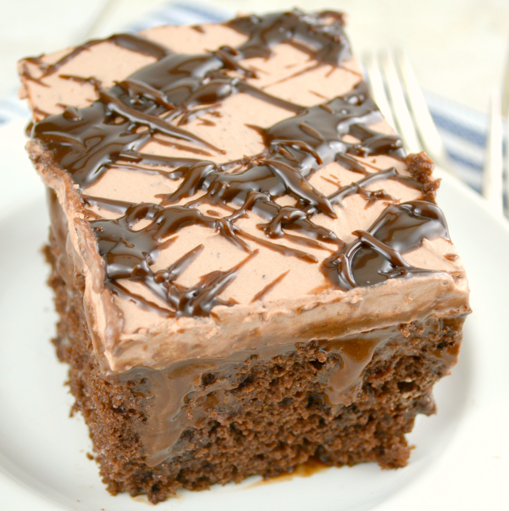 Chocolate Poke Cake  Quadruple Chocolate Poke Cake aka Death By Chocolate Poke