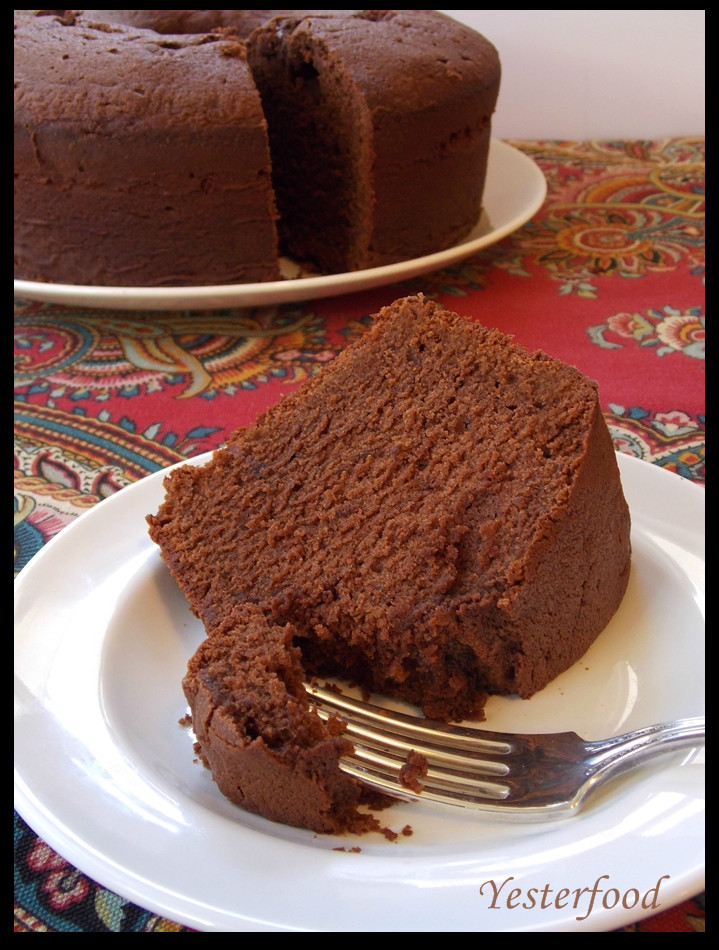 Chocolate Pound Cake  Yesterfood Mexican Chocolate Buttermilk Poundcake
